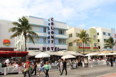 Praia sul Miami do art deco Imagem de Stock Royalty Free