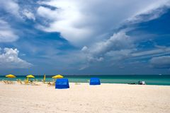 Praia sul, Miami, Florida Foto de Stock
