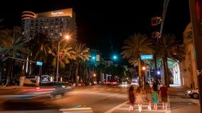 Praia sul na noite em Miami Florida EUA foto de stock