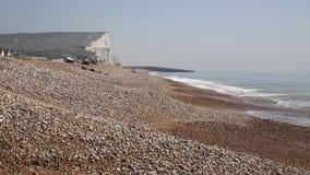 Praia Sussex do leste Inglaterra do sudeste Reino Unido de Seaford video estoque