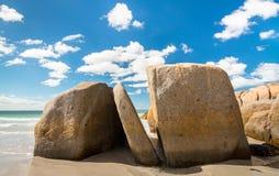 Praia tasmaniana fotografia de stock