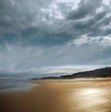 Praia tormentoso Fotografia de Stock