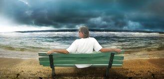 Praia tormentoso Fotos de Stock