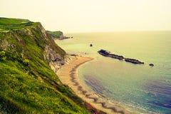Praia transversal da porta de Durdle foto de stock royalty free