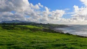 Praia traseira & parque centenário de Paritutu em Plymouth novo Fotos de Stock Royalty Free