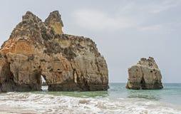 Praia Tres Irmaos in Alvor Algarve Portugal. Royalty Free Stock Photos