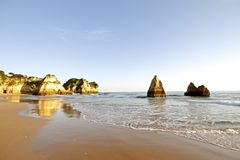 Praia Tres Irmaos in Alvor Portugal Stock Photo