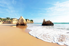 Praia Tres Irmaos in Alvor Portugal Royalty Free Stock Photo