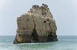 Praia Tres Irmaos dans Alvor Algarve Portugal Photographie stock libre de droits