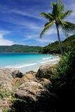 Praia tropical. Imagem de Stock