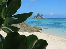 Praia tropical Anse real Imagem de Stock