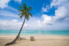 Praia tropical bonita Fotos de Stock