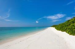 Praia tropical bonita em Maldivas Fotografia de Stock Royalty Free
