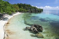 Terraço concreto Filipinas da praia da ilha de Siquijor Imagens de Stock Royalty Free