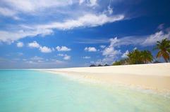 Praia tropical coral Foto de Stock Royalty Free