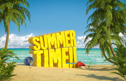 Praia tropical das horas de verão Fotografia de Stock