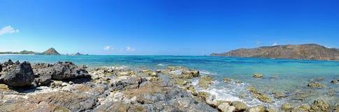 Praia tropical de Lombok Fotos de Stock Royalty Free