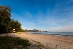 Praia tropical de Nopparattara em Krabi Imagem de Stock