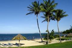 Praia tropical do console Imagem de Stock Royalty Free