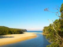 Praia tropical em Austrália Fotografia de Stock Royalty Free