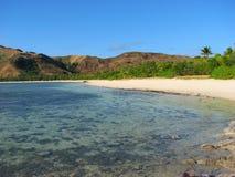Praia tropical em consoles de Yasawa, Fiji fotografia de stock royalty free
