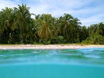 Praia tropical em Costa-Rica Imagem de Stock