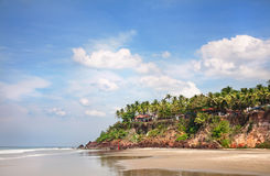 Praia tropical em India imagem de stock royalty free