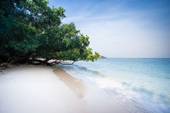Praia tropical em Koh Phayam Fotografia de Stock