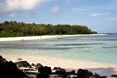 Praia tropical em Maurícia Foto de Stock
