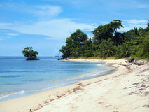 Praia tropical em Panamá Imagem de Stock
