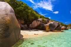Praia tropical em Seychelles Imagem de Stock Royalty Free