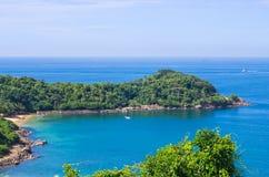 Praia tropical em Sri Lanka, Foto de Stock Royalty Free