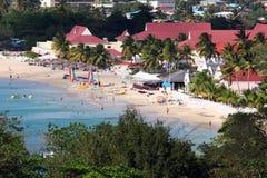 Praia tropical em St Lucia Fotografia de Stock