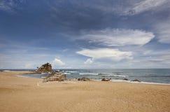 Praia tropical em Terengganu, Malásia Fotografia de Stock