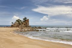 Praia tropical em Terengganu, Malásia Foto de Stock Royalty Free
