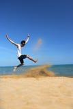 Praia tropical emocionante Fotos de Stock Royalty Free