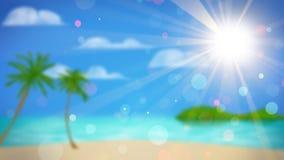 Praia tropical fora de foco Fotografia de Stock Royalty Free