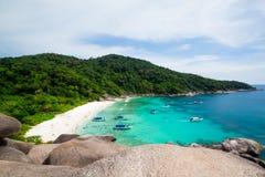 Praia tropical, ilhas de Similan, mar de Andaman Imagem de Stock Royalty Free