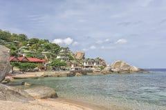 Praia tropical Koh Tao, Tailândia Fotografia de Stock Royalty Free