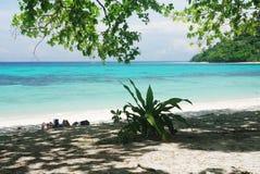 Praia tropical, mar de Andaman Fotos de Stock Royalty Free