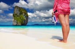 Praia tropical, mar de Andaman, Tailândia Foto de Stock Royalty Free