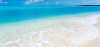 Praia tropical na ilha do Largo de Cayo Imagem de Stock