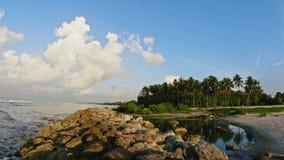 Praia tropical no tempo-lapso da República Dominicana vídeos de arquivo