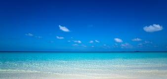 Praia tropical perfeita do paraíso do console Fotos de Stock Royalty Free