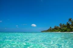 Praia tropical perfeita do paraíso do console Imagem de Stock