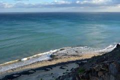 Praia tropical perto de Costa Calma em Fuerteventura, Ilhas Canárias, Espanha Foto de Stock Royalty Free