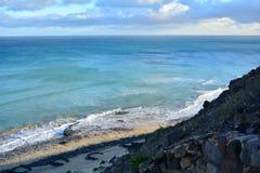Praia tropical perto de Costa Calma em Fuerteventura, Ilhas Canárias, Espanha Foto de Stock