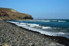 Praia tropical perto de Costa Calma em Fuerteventura, Ilhas Canárias, Espanha Imagem de Stock Royalty Free