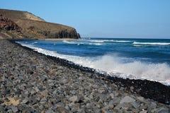 Praia tropical perto de Costa Calma em Fuerteventura, Ilhas Canárias, Espanha Fotografia de Stock Royalty Free