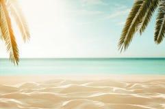 Praia tropical vazia, defocused imagens de stock royalty free